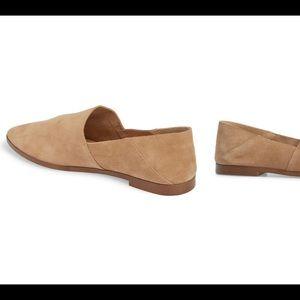 SPLENDID | Babette almond toe flat suede 7
